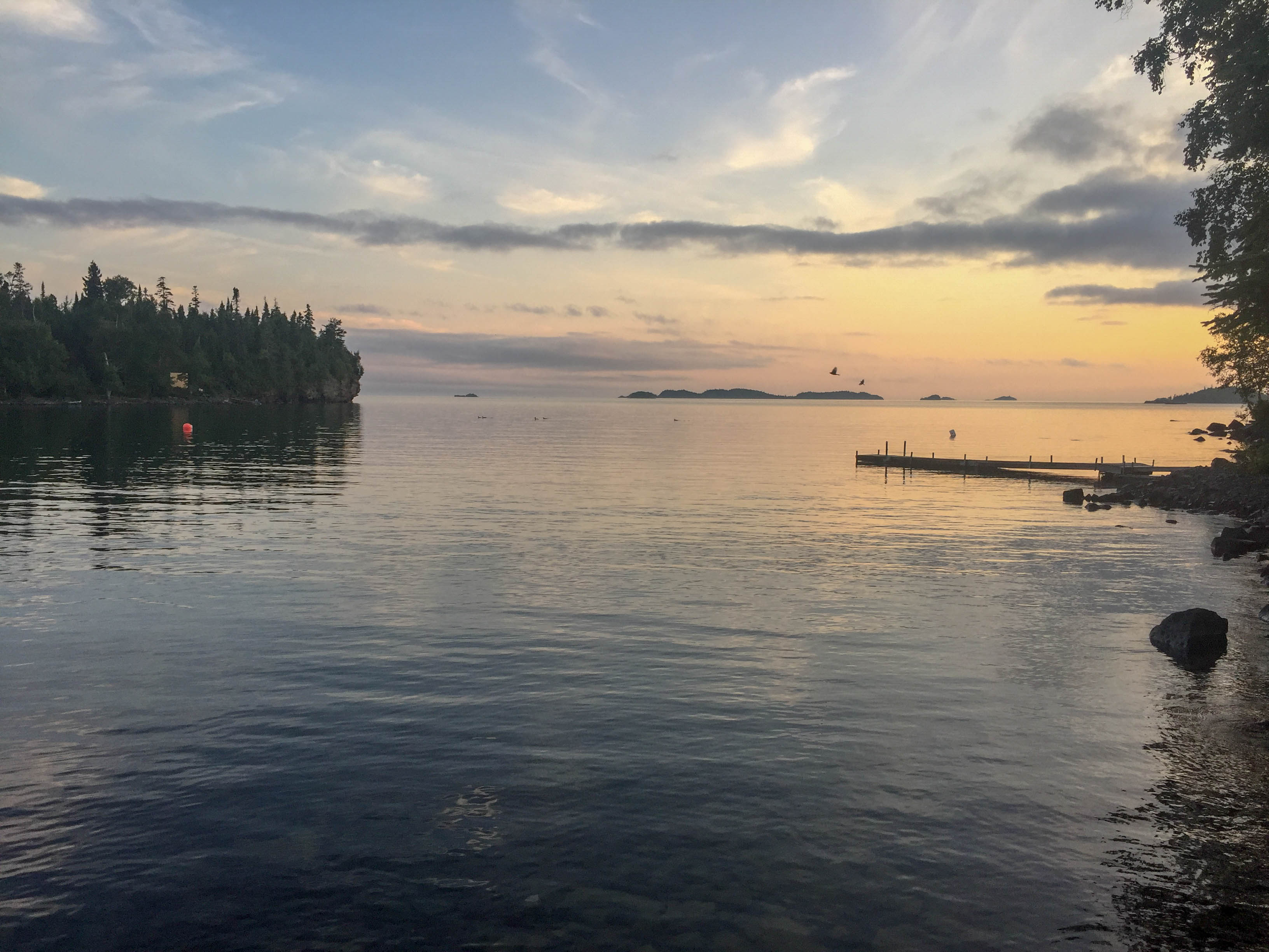 Views of Lake Superior from Silver Islet Airbnb
