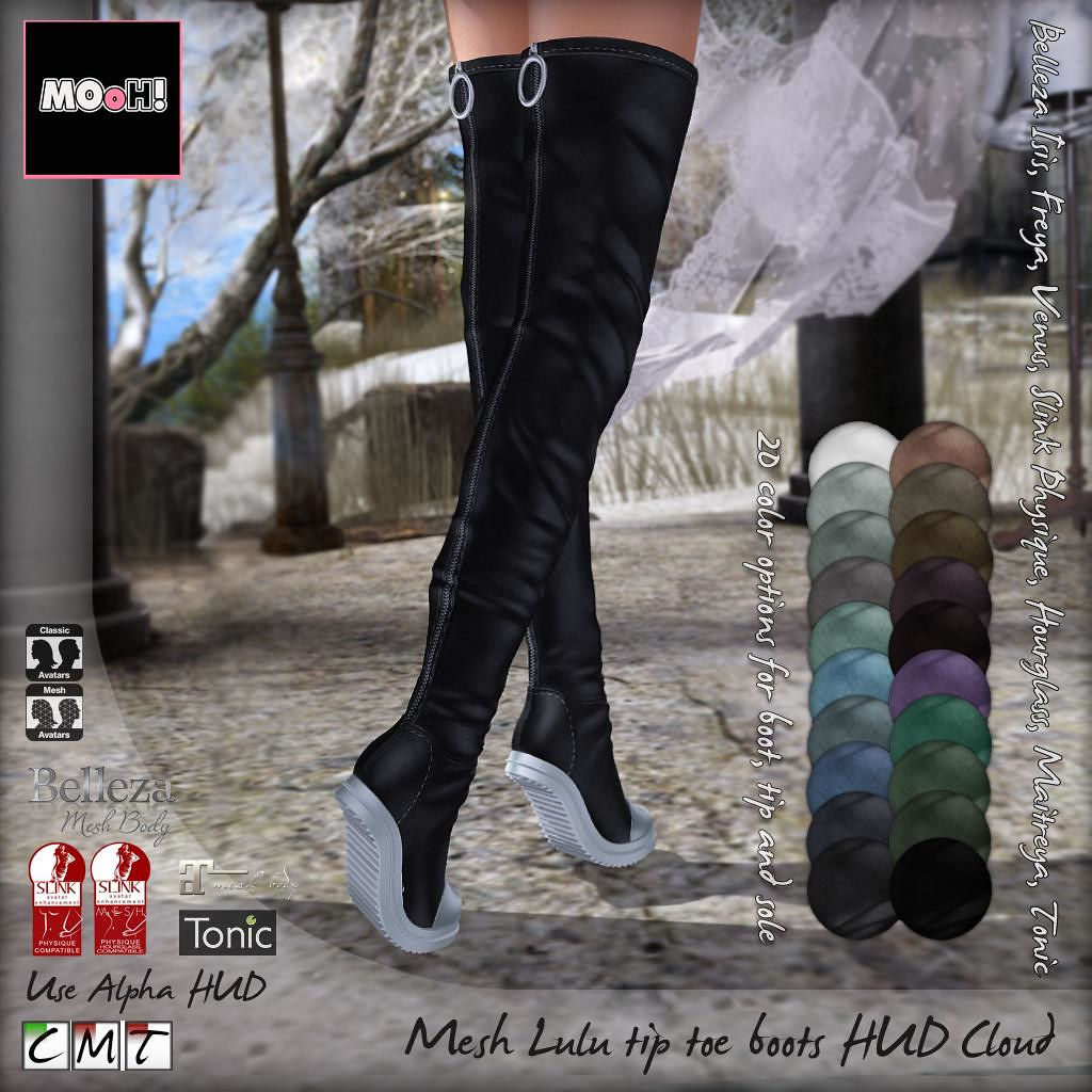 Lulu tip toe boots Cloud