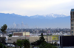 Snow and Gloom Over Los Angeles