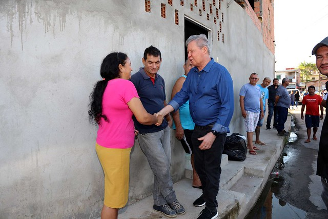 28.12.2018 Prefeito Arthur Virgílio Neto visita Obras de drenagem de igarapés e limpeza pública no bairro cidade de Deus com Braga Mendes