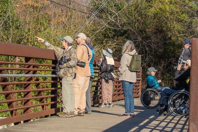 Birders on Lake Creek Trail