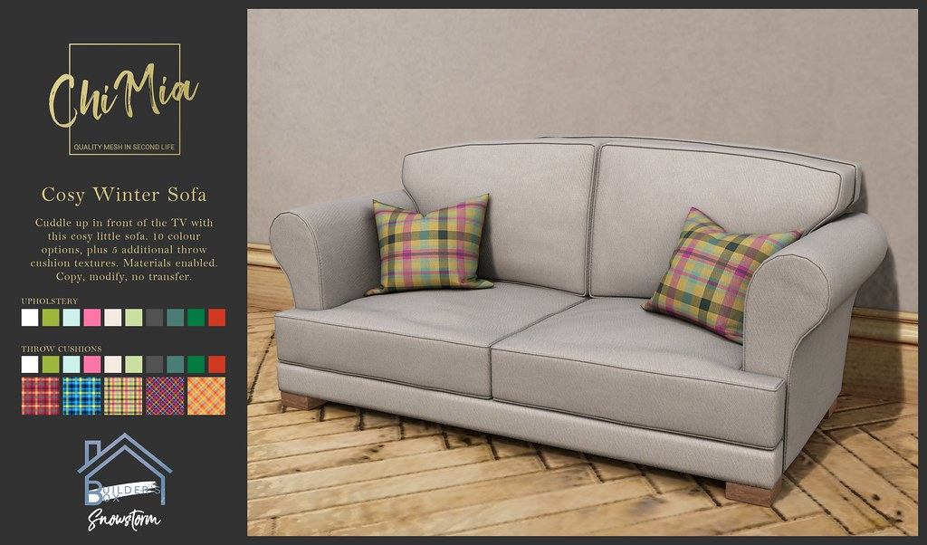ChiMia – Cosy Winter Sofa for Builder's Box Snowstorm Edition (DELIVERING DECEMBER 4TH AT 4PM)