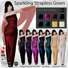 :.C!L.: Sparkling Strapless Gown with HUD Poster - December Group Gift