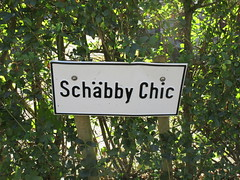 Schäbby Chic: sign in Schwäbisch Hall, Germany