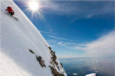 Last minute: Heliskiing na Antarktidě