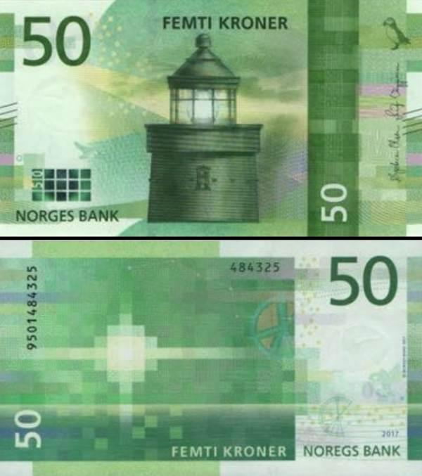 50 korún Nórsko 2016 (2018), P53