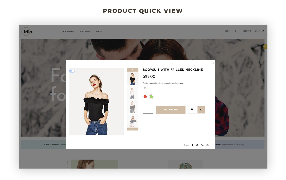 product quickview - Clothing and Accessories Prestashop theme