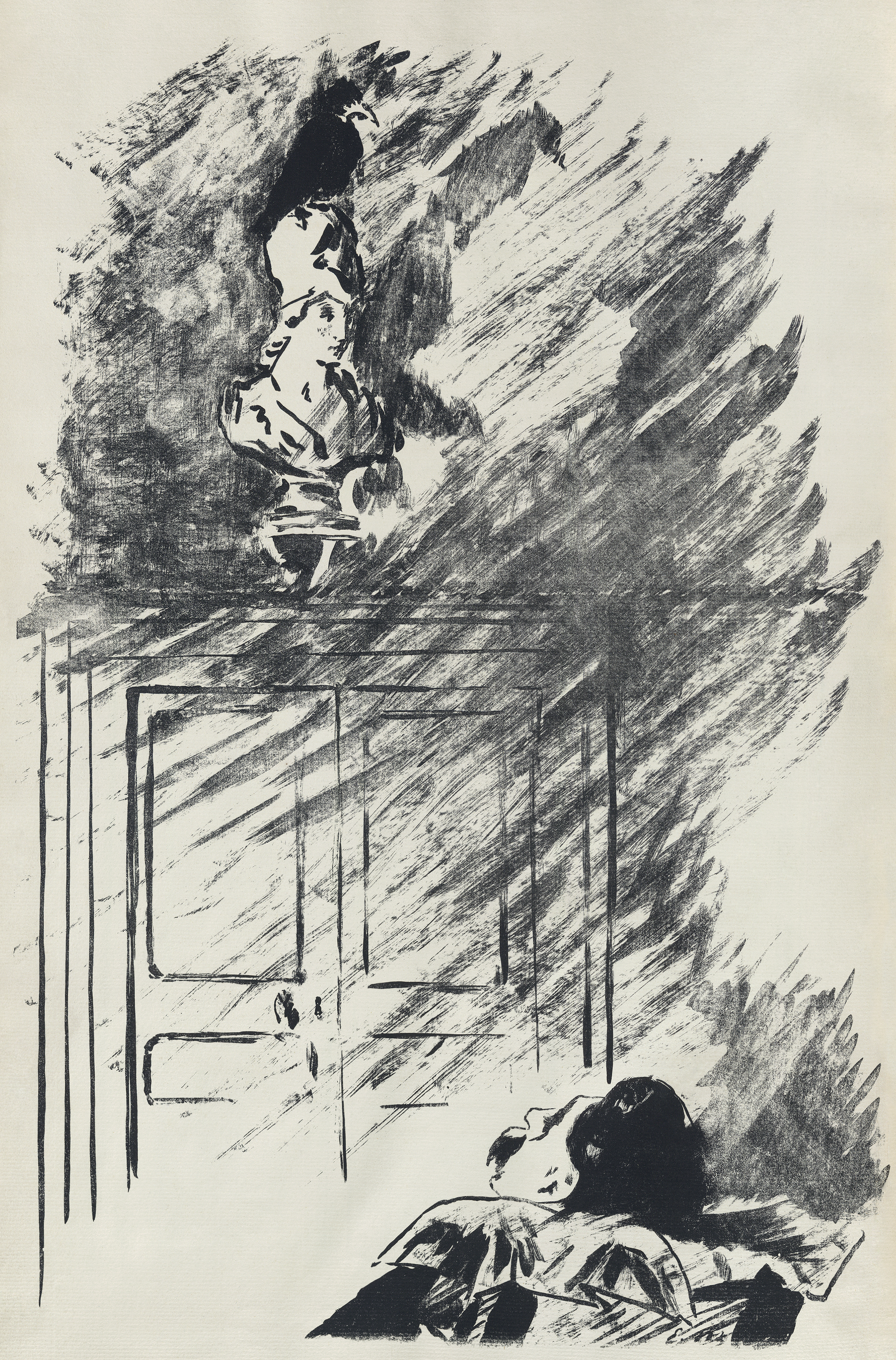 Illustration by French impressionist Édouard Manet for the Stéphane Mallarmé translation of