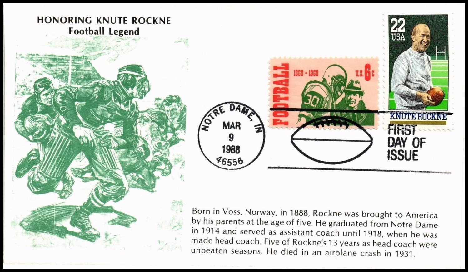 United States - Scott #2376 (1988) first day cover