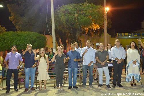 Fiéis celebram a 5° novena de São Sebastião com mais uma noite de chuva na cidade de Ipu