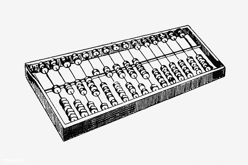 Vintage abacus illustration