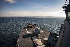 USS Donald Cook transits the Dardanelles Strait