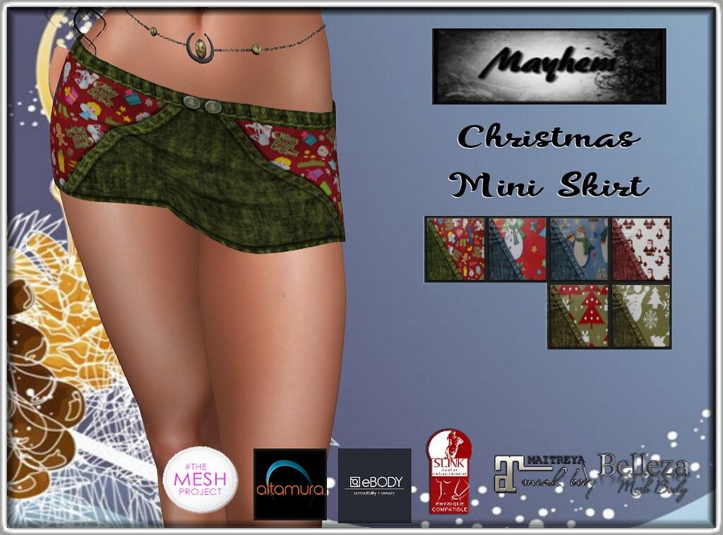Mayhem Christmas Mini Skirt - TeleportHub.com Live!