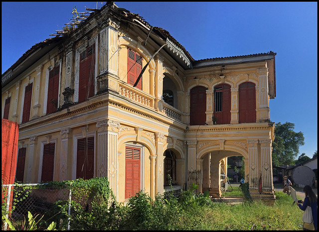 Abandoned old mansion in old Phuket Town