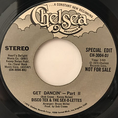 DISCO TEX & THE SEX-O-LETTERS:GET DANCIN'(LABEL SIDE-B)