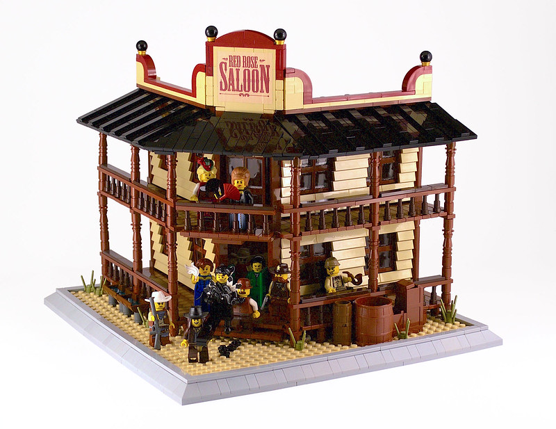 Red Rose saloon - LEGO Far West