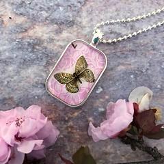 butterflypostagestamppendant