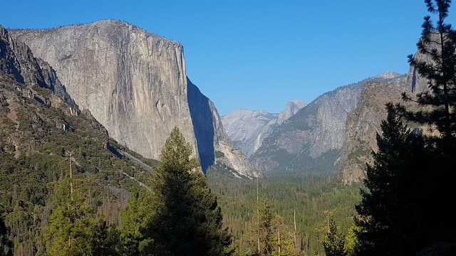 The famous view from the tunnel -- El Capitan, Clouds Rest, Half Dome by bryandkeith on flickr