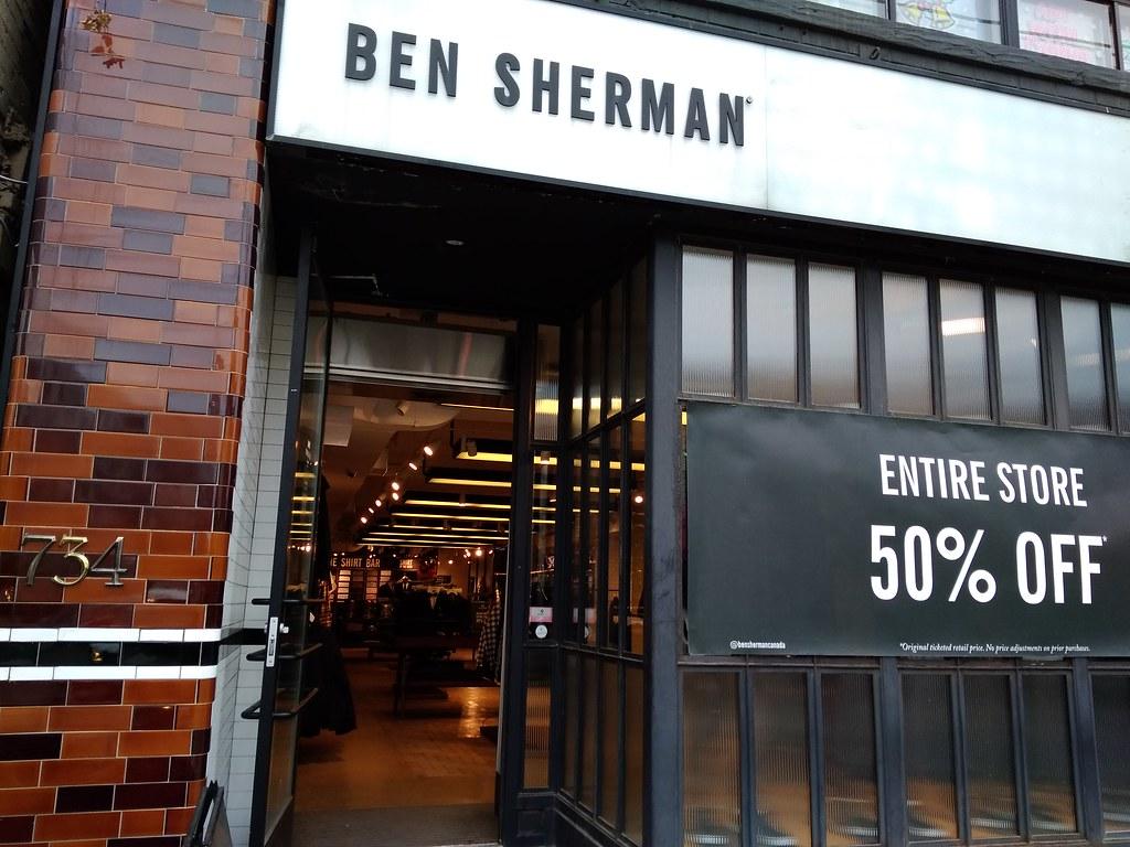Ben Sherman on Queen Street West in Toronto