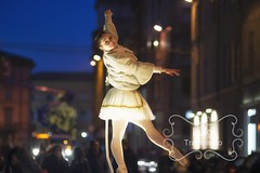 Classical dancer in the city