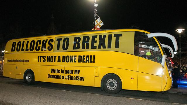 Bollocks to Brexit bus