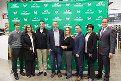 State Senator Rob Sampson, State Representative John Fusco and Representative Gale Mastrofrancesco joined other legislators and employees for a business tour and announcement that Southington's SignPro facility is 100% solar powered.