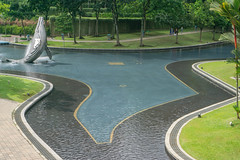 Lake Symphony in KLCC Park with Fountains in Kuala Lumpur