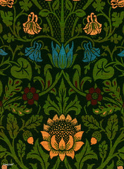 Violet and Columbine by William Morris (1834-1896). Original from The MET Museum. Digitally enhanced by rawpixel.