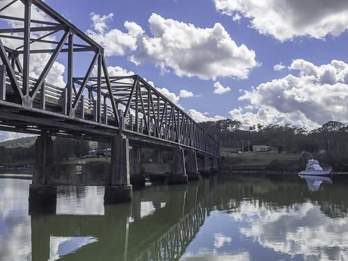 Karuah NSW - Old Pacific Highway (Tarean Road) bridge over Karuah River - see below-2