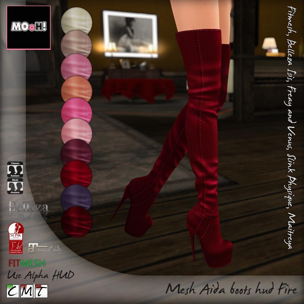Aida boots Fire hud