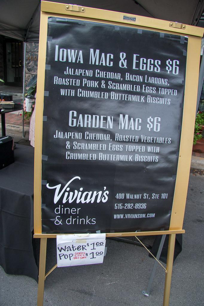 Vivian's Stand Menu at Des Moines Farmer's Market