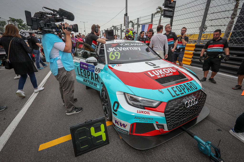 69 VERNAY Jean-Karl, (fra), Audi RS3 LMS TCR team Audi Sport Leopard Lukoil, ambiance during the 2018 FIA WTCR World Touring Car cup of Macau, Circuito da Guia, from november  15 to 18 - Photo Alexandre Guillaumot / DPPI