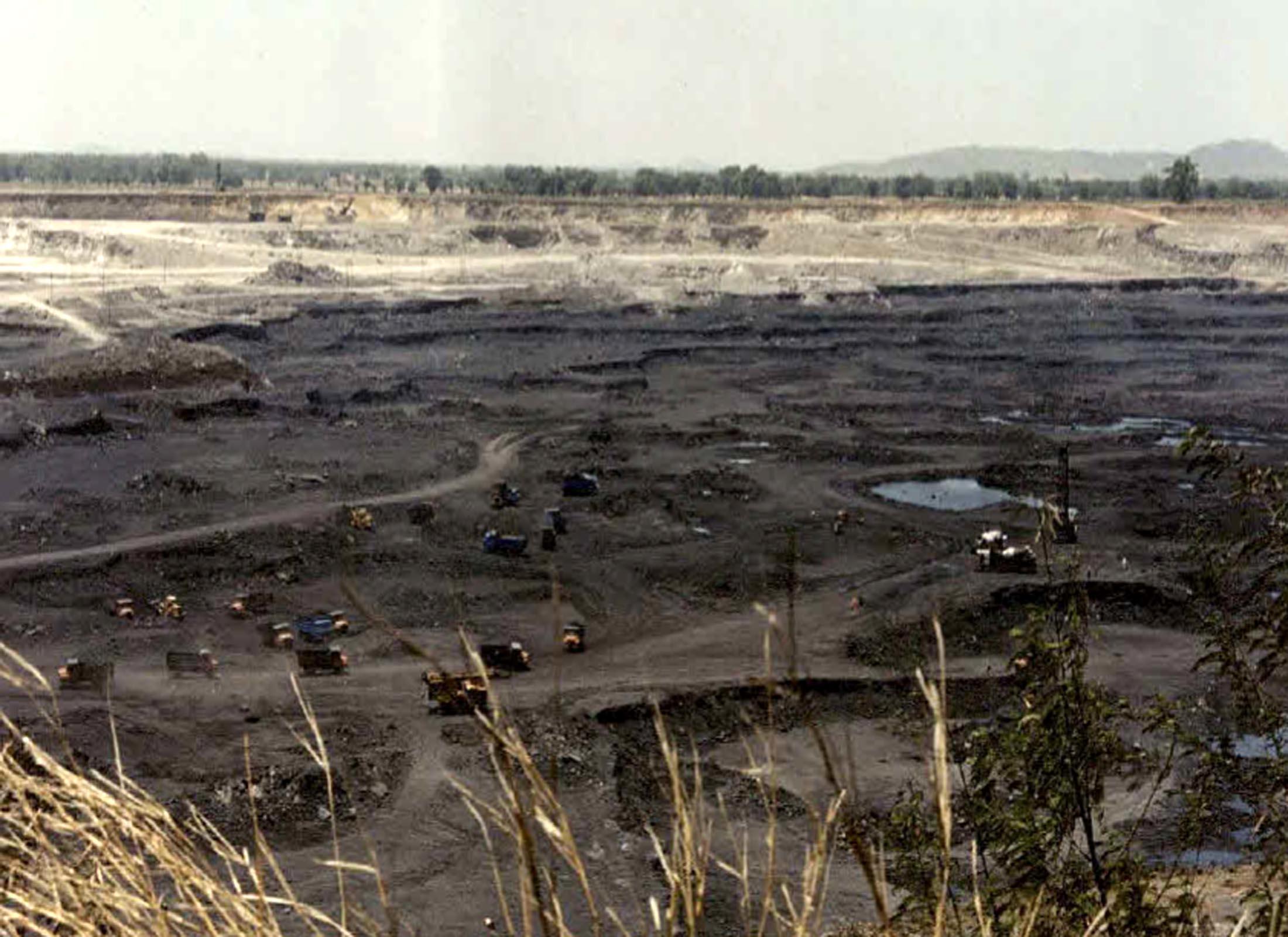 गेवरा खनन क्षेत्र: भू-दृश्य