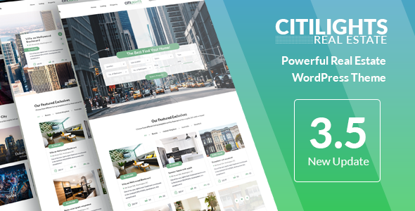 CitiLights v3.5.4 – Real Estate WordPress Theme