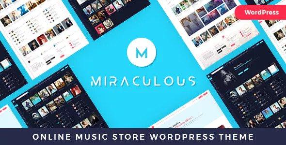 Miraculous v1.0.6 - Online Music Store WordPress Theme