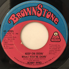 BOBBY BYRD:KEEP ON DOIN' WHAT YOU'RE DOIN'(LABEL SIDE-A)