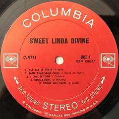 SWEET LINDA DIVINE:SWEET LINDA DIVINE(LABEL SIDE-A)