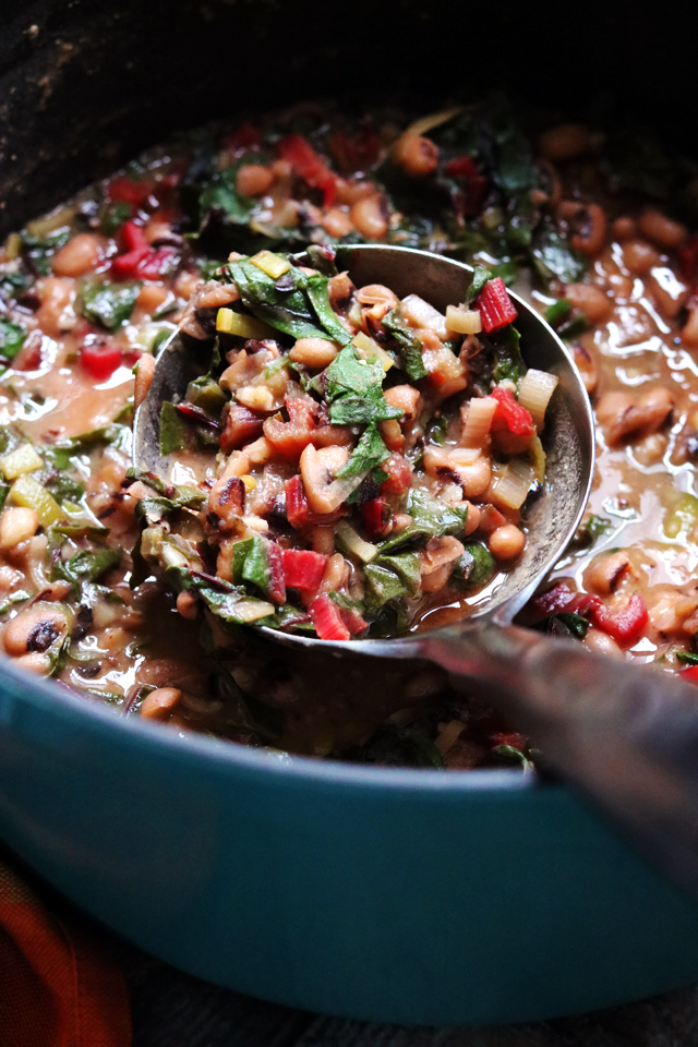 Black-Eyed Pea Stew with Green Herb Smash
