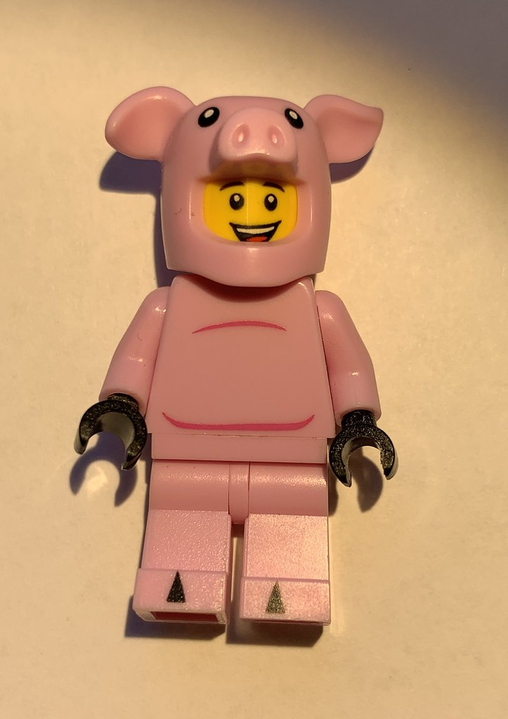 Lego 80102 Piggy is just the regular CMF S12 Piggy suit with the head from Lester. :)