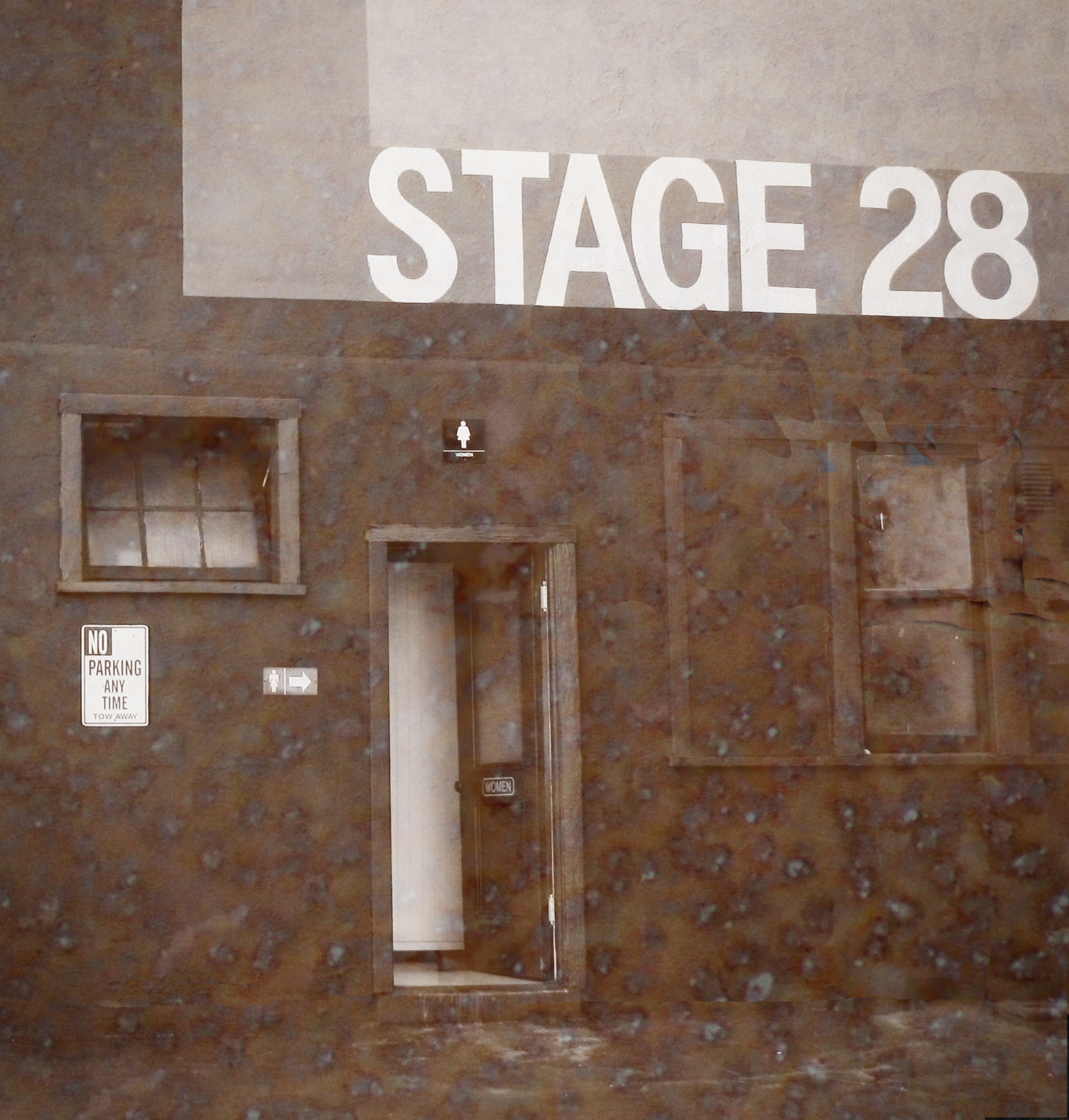 The exterior of Soundstage 28 at Universal Studios Hollywood, commonly called the
