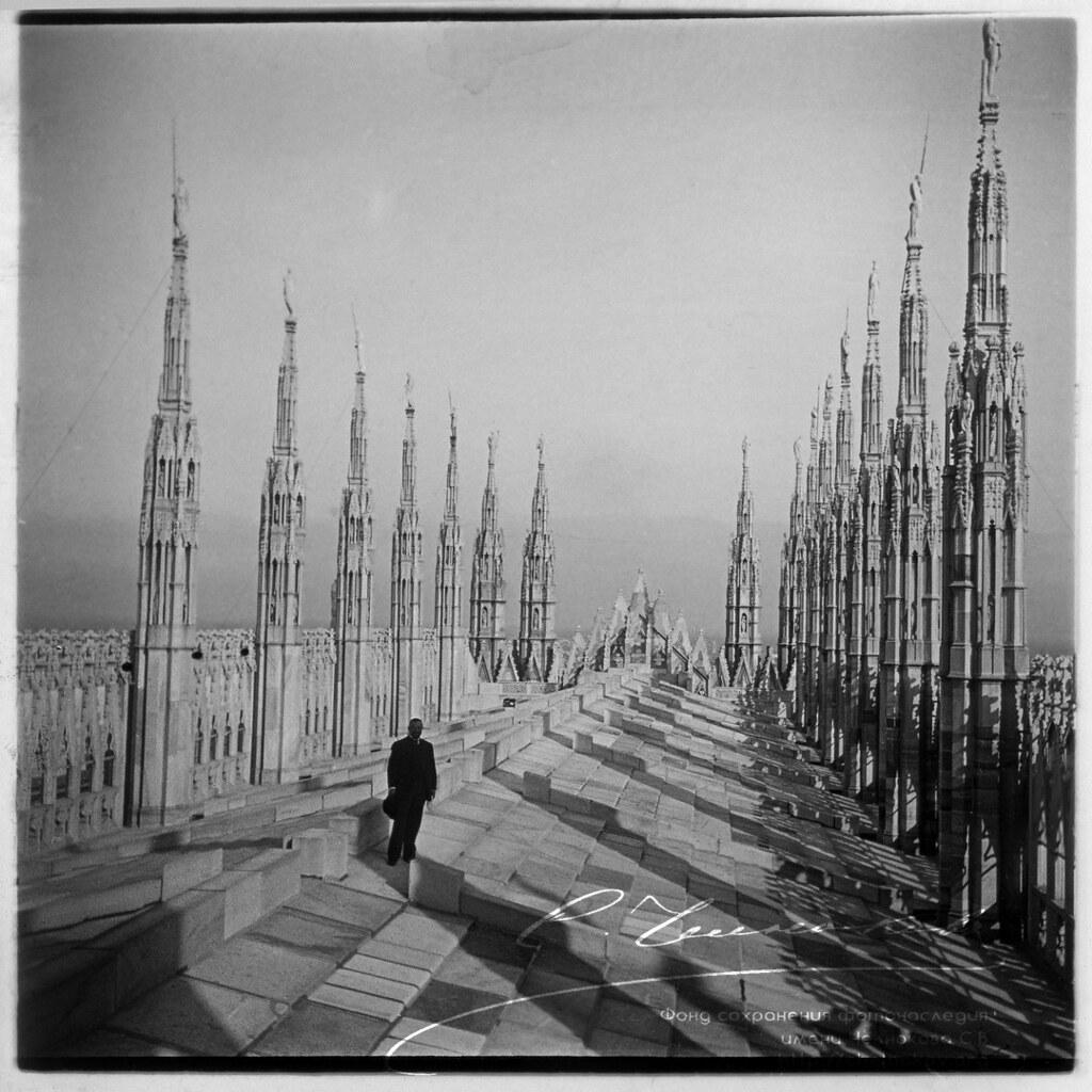 Милан. На крыше Миланского собора