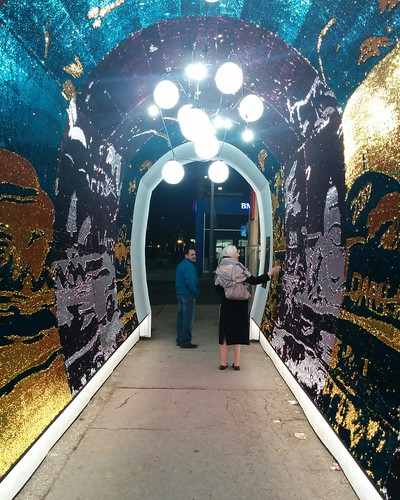 Out of the Tunnel of Glam (1) #toronto #tunnelofglam #yongeandstclair #tunnel #sequin #blue #red
