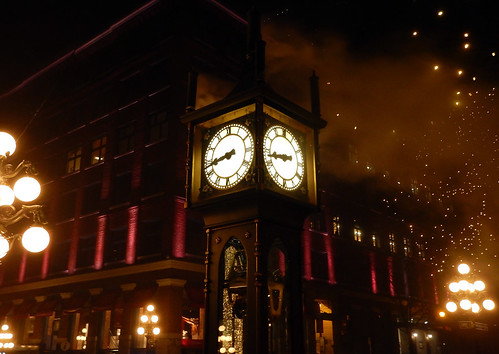 The Gastown clock at night (Vancouver, Canada)