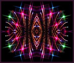 Sparkling Firework in a Framed Kaleidoscope