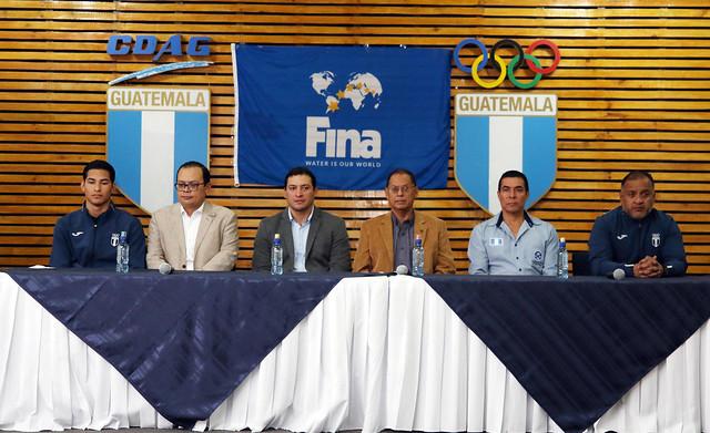Conferencia de Prensa Erick Gordillo, natación