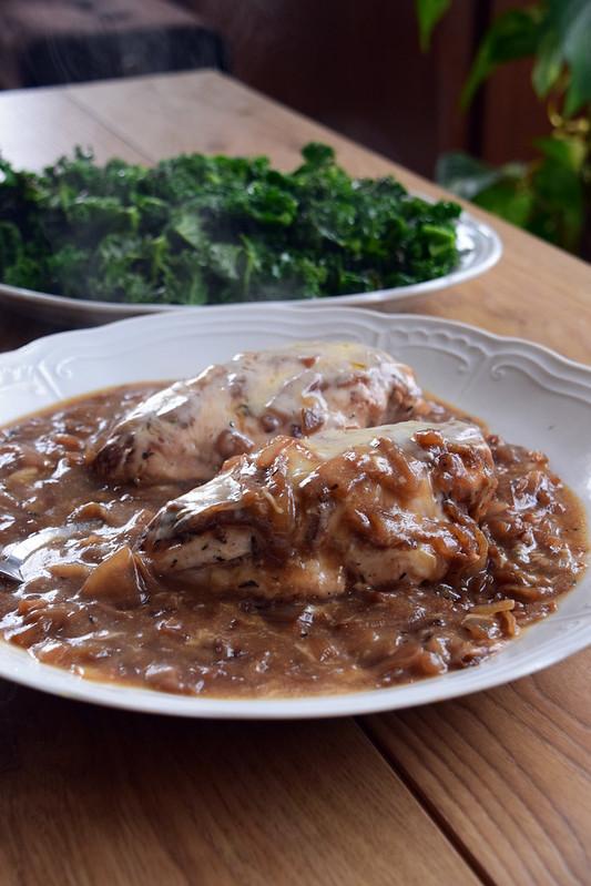 poulet façon soupe à l'oignon