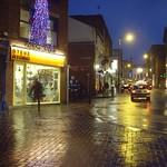 Festive damp Lune Street, Preston