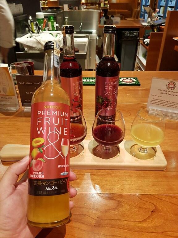 Suntory Premium Fruit Wine 3 Glass rm$35 @ Takumi Craftbar at KL Isetan The Japan Store