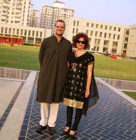 Dressed for the school Diwali celebration. From an exceprt from Only in India: Adventures of an International Educator