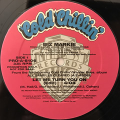 BIZ MARKIE:LET ME TURN YOU ON(LABEL SIDE-A)